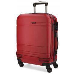 Maleta de cabina de 55x40x20 cm Movom Galaxy Roja con bolsillo frontal