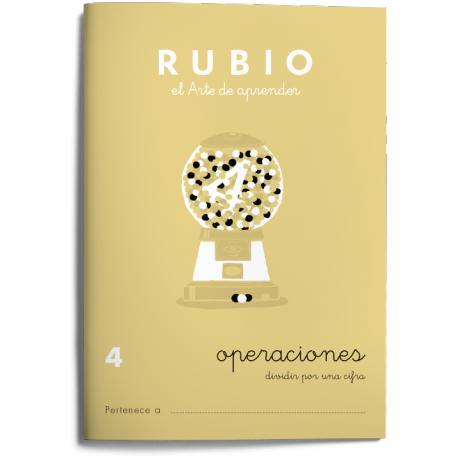 Cuaderno Rubio Operaciones nº 4 Dividir por una cifra