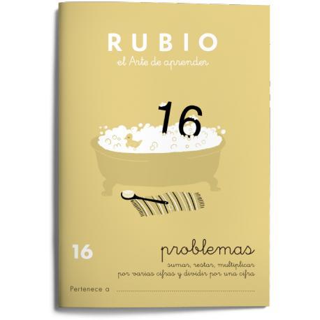Cuaderno Rubio Problemas nº 16 Sumar, restar, multiplicar por varias cifras y dividir por una cifra