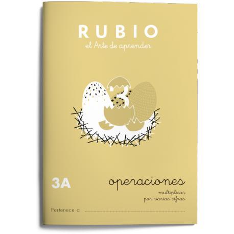 Cuaderno Rubio Matemáticas Operaciones nº 3 A Multiplicar por varias cifras