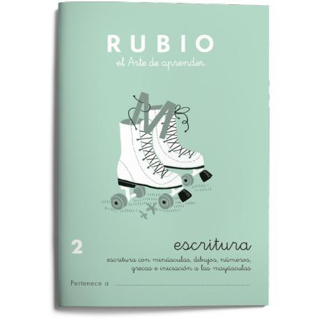 Cuaderno Rubio Escritura nº 2 Minúsculas, dibujos, números, grecas e iniciación a las mayúsculas