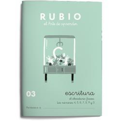 Cuaderno Rubio Escritura nº 03 Abecedario, frases y números con puntos, dibujos y grecas