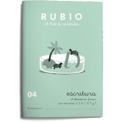 Cuaderno Rubio Escritura nº 04 Abecedario, frases y números con puntos, dibujos y grecas