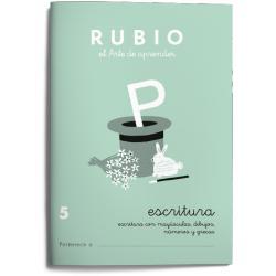 Cuaderno Rubio Escritura nº 5 Minúsculas, dibujos, números, grecas con letra continua