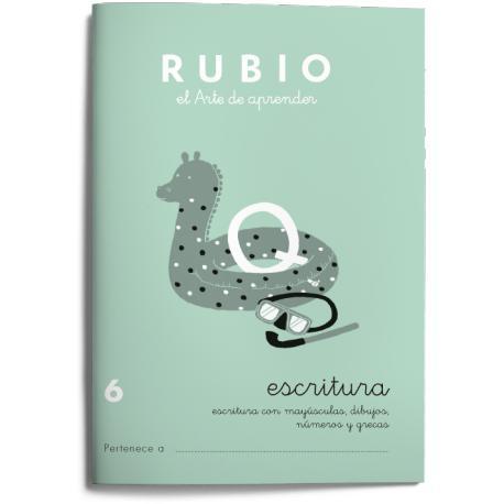 Cuaderno Rubio Escritura nº 6 Minúsculas, dibujos, números, grecas con letra continua