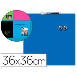 Pizarra Magnetica Azul sin marco 36x36 Rexel