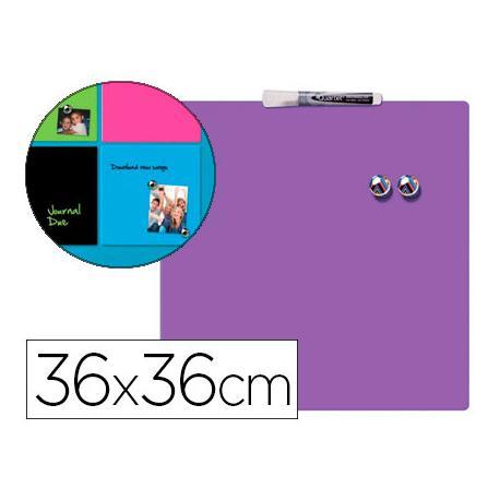 Pizarra Morada Magnetica sin marco 36x36 Rexel
