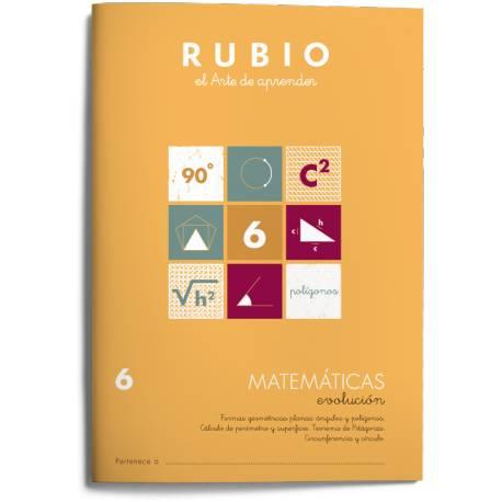 Cuaderno Rubio Matemáticas Evolución nº 6 Formas geométricas planas: ángulos y polígonos