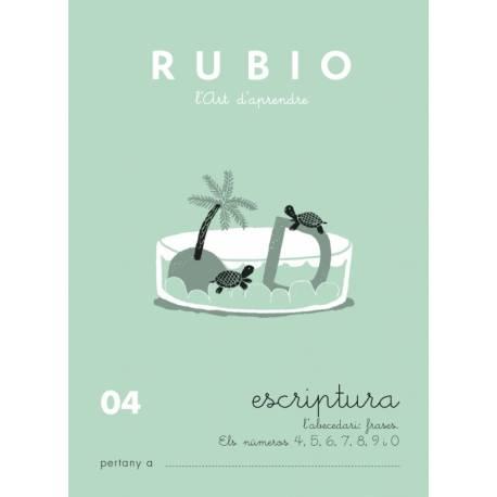 Cuaderno Rubio Escriptura nº 04 Abecedario, frases y números Catalán