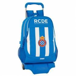 Mochila Escolar R.C.D Español 43x33x15 Cm con Ruedas