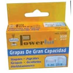 GRAPAS FLECHA POWEHIT 25/10 GRAN CAPACIDAD 10 MM CAJA DE 3000 UNIDADES