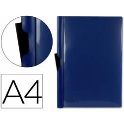 Carpeta dossier con pinza lateral Liderpapel 60 hojas Din A4 azul
