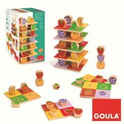 Juego educativo a partir de 1 año Torre de frutas Goula