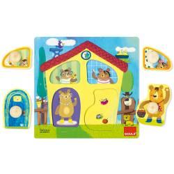 Puzzles a partir de 3 años Casa familia osos Goula