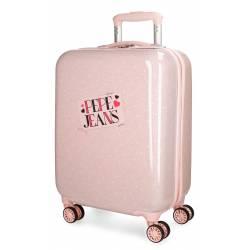 Maleta de cabina 55x37x20 cm Rigida Pepe Jeans Olaia color Rosa