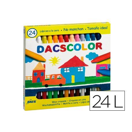 Lapices cera semiblanda DacsColor Alpino caja de 24 unidades