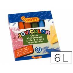 Lapices cera Jovi Jovicolor 6 unidades colores surtidos