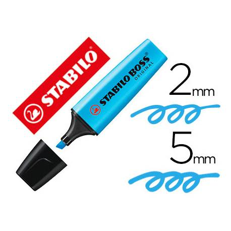 Rotulador Stabilo Boss 70 azul