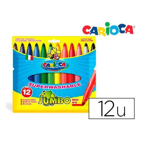 Rotulador Carioca Jumbo grueso lavable caja de 12 rotuladores