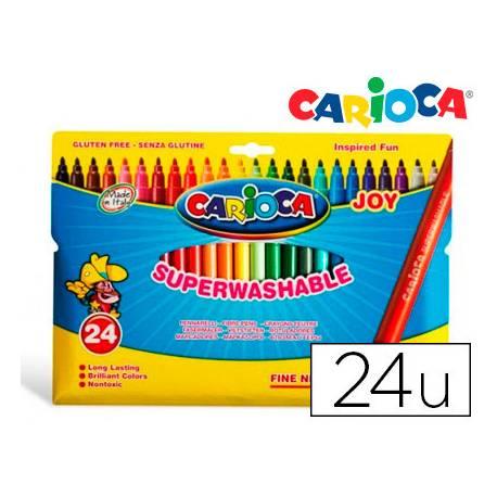 Rotulador Carioca Joy finos lavables caja de 24 rotuladores