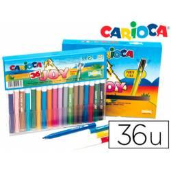 Rotulador Carioca Joy Cristal fino lavable caja de 36 rotuladores