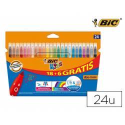 Rotulador Bic Kids Color Punta Fina Lavable Caja de 18 + 4
