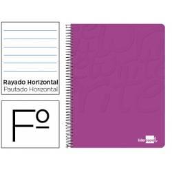 Cuaderno Espiral Liderpapel Write Tamaño Folio Rayado Horizontal de Color Rosa