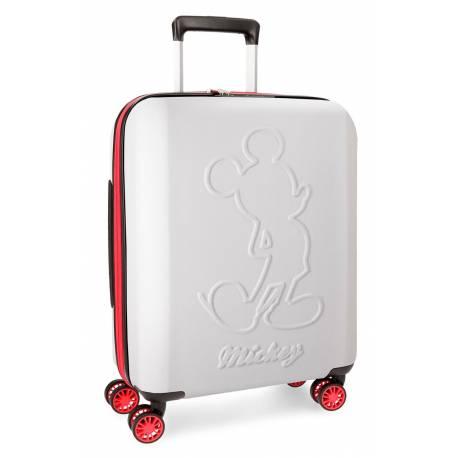 Maleta de cabina 55x40x20 cm Rigida Mickey Colored color Blanco