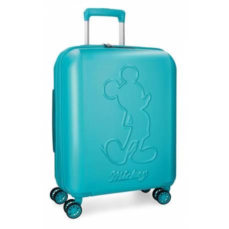 Maleta de cabina 55x40x20 cm Rigida Mickey Premium color Turquesa